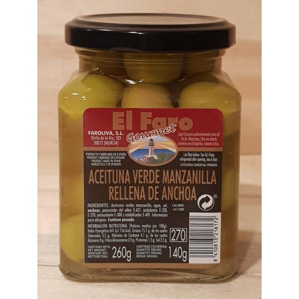 Aceitunas rellenas El Faro